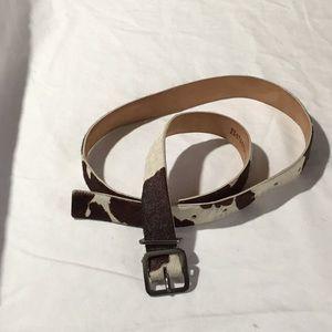 Cow pattern belt